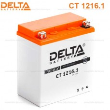 Аккумулятор Delta СT 1216.1 (YTX16-BS) 16Аh EN230 Прямая+-