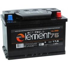 SMART ELEMENT  75 A/h Пусковой ток EN620А Обратный-+