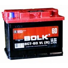 BOLK 60 A/h Пусковой ток EN500А Обратный-+
