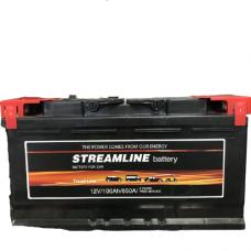 StreamLine 100A/h Пусковой ток EN850А Прямой+-