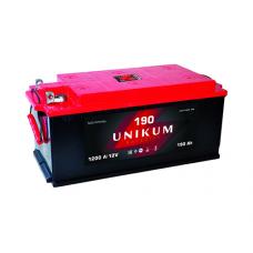 UNIKUM  190 A/h Пусковой ток EN1200А Болт