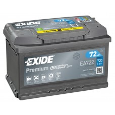 EXIDE PREMIUM 72 A/h Пусковой ток EN720А Обратный -+ низкий