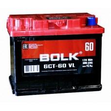 BOLK 60 A/h Пусковой ток EN500А Прямой+-