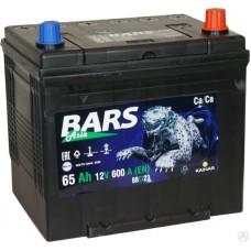 BARS ASIA  65 A/h Пусковой ток EN600А Обратный-+