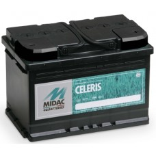 MIDAC 70 A/h Пусковой ток EN640А Обратный-+ низкий