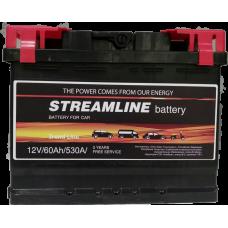 StreamLine 60A/h Пусковой ток EN530А Обратный -+