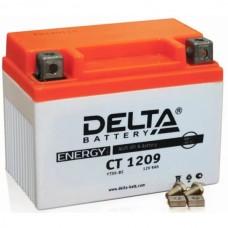 Аккумулятор Delta CT 1209 (YTX9-BS) 9Аh EN130 Прямая+-