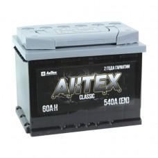 АКТЕХ CLASSIC 60 A/h Пусковой ток EN600А Обратный-+