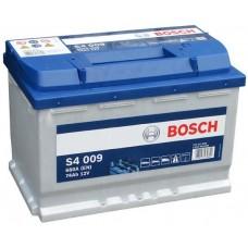 Bosch S4 74 A/h Пусковой ток EN680А прямой+-