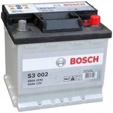 Bosch 45 A/h Пусковой ток EN400А Обратный-+ кубик