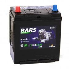 BARS ASIA  42 A/h Пусковой ток EN350А Прямой+-