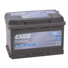 EXIDE PREMIUM 77 A/h Пусковой ток EN760А Обратный -+
