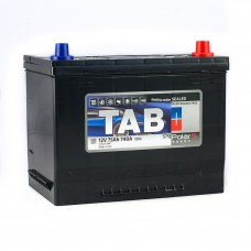 TAB POLAR 75 A/h Азия Пусковой ток EN740А Обратный-+