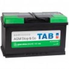 TAB  AGM 80 Пусковой ток EN800А Обратный-+