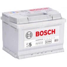 BOSCH S5 61A/h Пусковой ток EN600А Обратный-+
