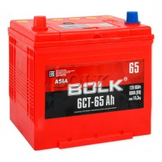 BOLK ASIA 65 A/h Пусковой ток EN600А Обратный-+