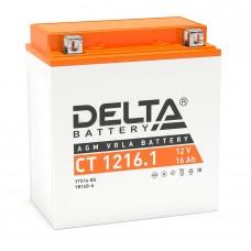 Аккумулятор Delta СT 1216.1 (YTX16-BS) 16Аh AGM