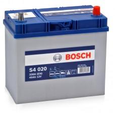 Bosch S4 45 A/h Пусковой ток EN330А Обратный-+