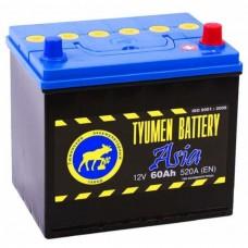 TYUMEN BATTERY ASIA 60 A/h Пусковой ток EN520А Обратный-+