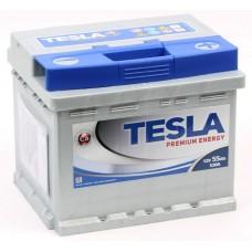 TESLATESLA PREMIUM  55 A/h Пусковой ток EN520А Обратный-+ кубик