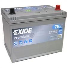 EXIDE PREMIUM  75 A/h Азия Пусковой ток EN630А Обратный-+