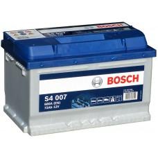 BOSCH S4 72A/h Пусковой ток EN680А Обратный-+ низкий