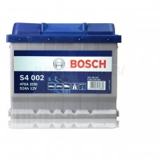 BOSCH S4 52 A/h Пусковой ток EN470А Обратный-+ кубик