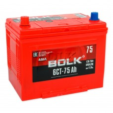 BOLK ASIA 75 A/h Пусковой ток EN640А Прямой+-