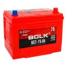 BOLK ASIA 75 A/h Пусковой ток EN640А Обратный-+