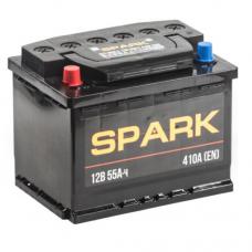 SPARK 55 A/h Пусковой ток EN450А Прямой+-