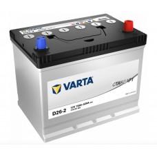 VARTA Стандарт 70 A/h Азия Пусковой ток EN620А Обратный-+
