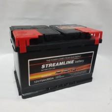 StreamLine 75 A/h Пусковой ток EN680А Обратный -+