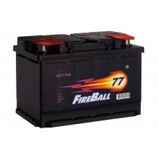 Fire Ball 77 A/h Пусковой ток EN670А Обратный-+