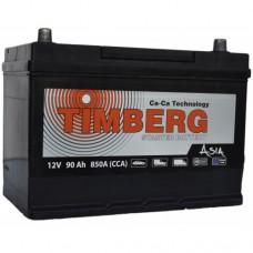 Timberg 90 A/h Пусковой ток EN850А Обратный-+