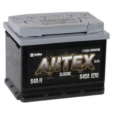 АКТЕХ CLASSIC 64A/h Пусковой ток EN640А Обратный-+
