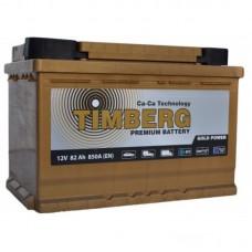TIMBERG GOLD 82 A/h Пусковой ток EN850А Обратный - +