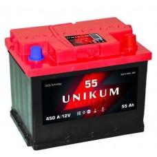 UNIKUM 55 A/h Пусковой ток EN450А Прямой+-