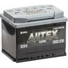 АКТЕХ CLASSICС 62 A/h Пусковой ток EN550А Обратный+-