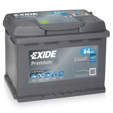 EXIDE Premium 64 A/h Пусковой ток EN640А Обратный -+