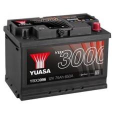 YUASA 75 A/h Пусковой ток EN650А Обратный-+