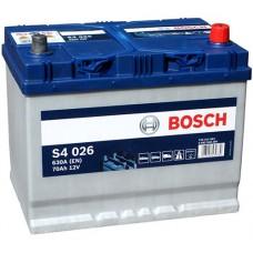 BOSCH S4 70 A/h Азия Пусковой ток EN 630А Обратный-+