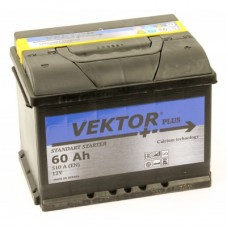 Аккумулятор Vektor Plus  60 Ah Обратный[-+]