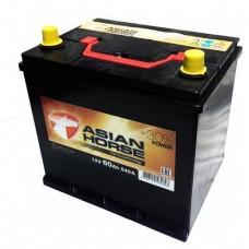 Asian Horse 60 A/h Пусковой ток EN540А Обратный-+