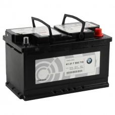 BMW AGM 80 A/h Пусковой ток EN800А Обратный -+