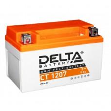 Аккумулятор Delta CT 1207 (YTX7A-BS) 12V 7Aч