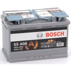 BOSCH  S5 70 A/h Пусковой ток EN760А Обратный-+
