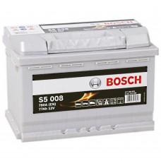 BOSCH  S5 77 A/h Пусковой ток EN780А Обратный-+