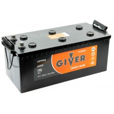 GIVER HYBRID  190 A/h Пусковой ток EN1250А Евро