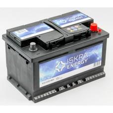 ISKRA ENERGY 72 A/h Пусковой ток EN540А Обратный-+ низкий