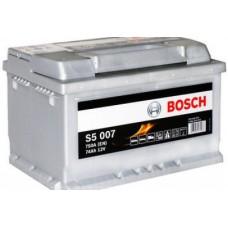 BOSCH S5 74A/h Пусковой ток EN750А Обратный-+